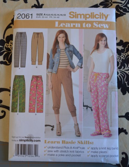 This is the pattern. No, I'm not Learning to Sew, but that means they are easy to make.