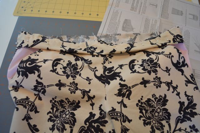 Sewing on the waistband
