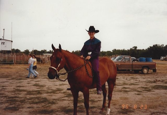 Showing in bareback as a 2 year old.