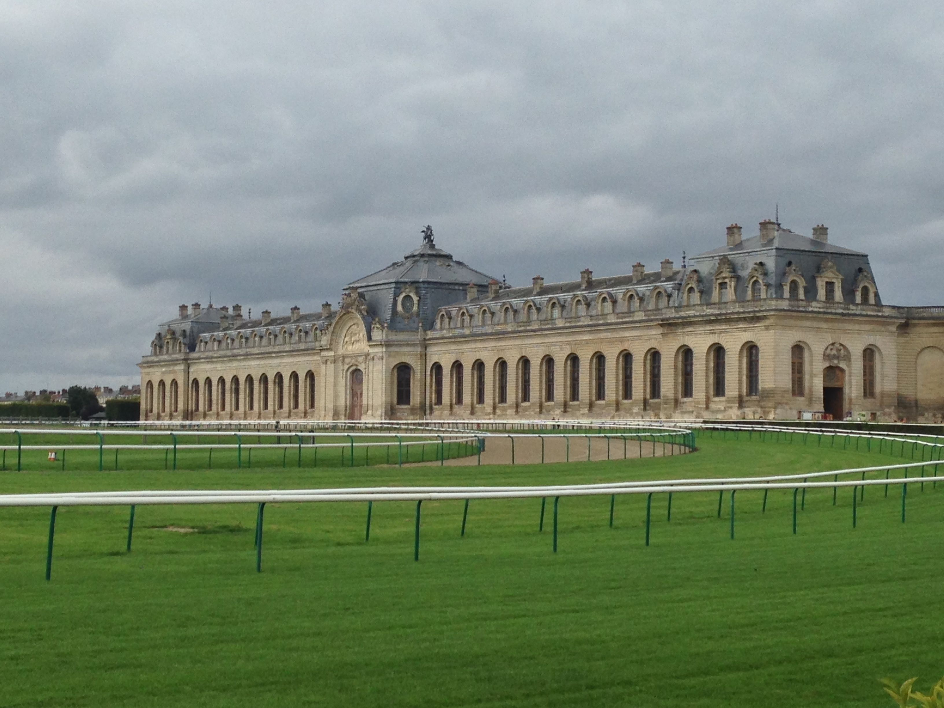 View of the Grand Stables and Hippodrome (or race track in English).