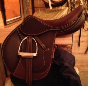 My beautiful brand new Antares saddle. BEAUTIFUL!