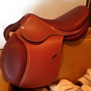 An Antares Spooner trial saddle from SmartPak!