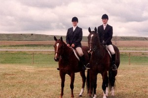 My first real English horse (the taller one on the right) and my cousin on a horse that my parents had for a few years.