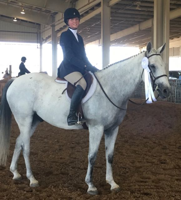 """Fourth place in the 2'6"""" Hunter Classic!"""