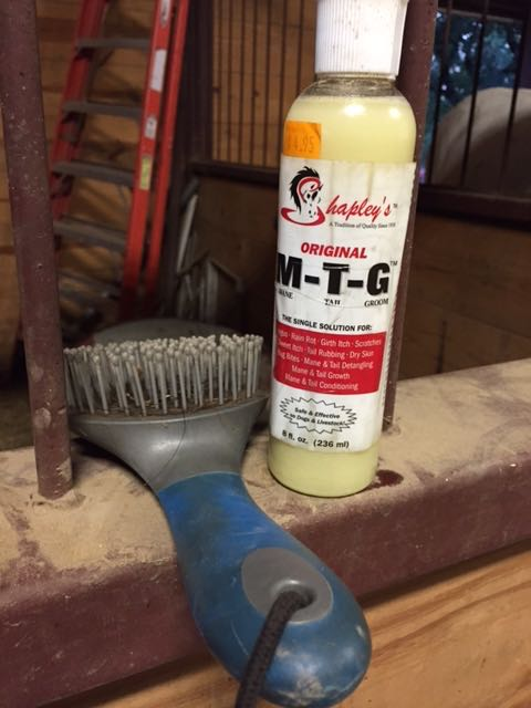 The tools of the trade. A tail brush and some Shapley's M-T-G
